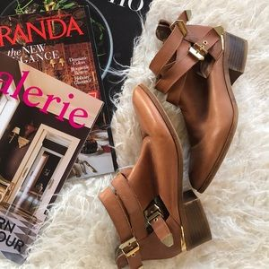 Seychelles Leather Gold Booties